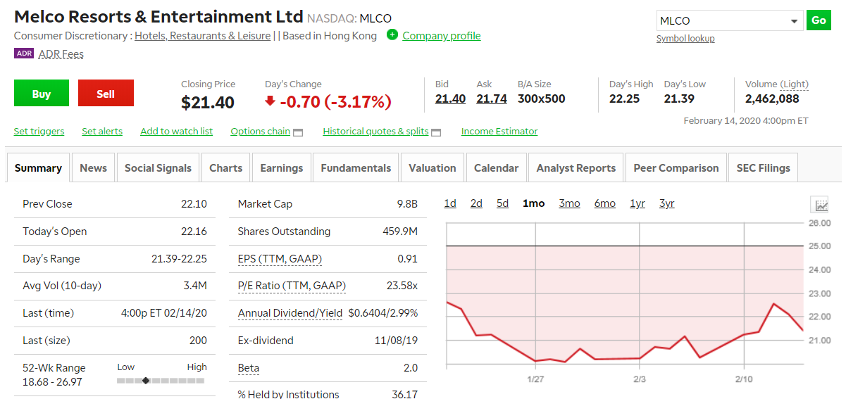 Melco Resorts & Entertainment Limited, formerly Melco Crown Entertainment Limited, is a holding company.